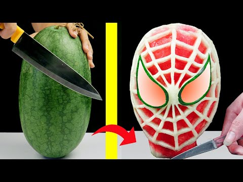 Watermelon carving into