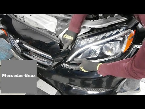 How to Replace Headlight in Mercedes Benz C300 W205 and E300 W213