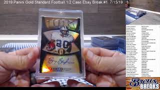 2019 Panini Gold Standard Football 1/2 Case Ebay Break #1  7/15/19
