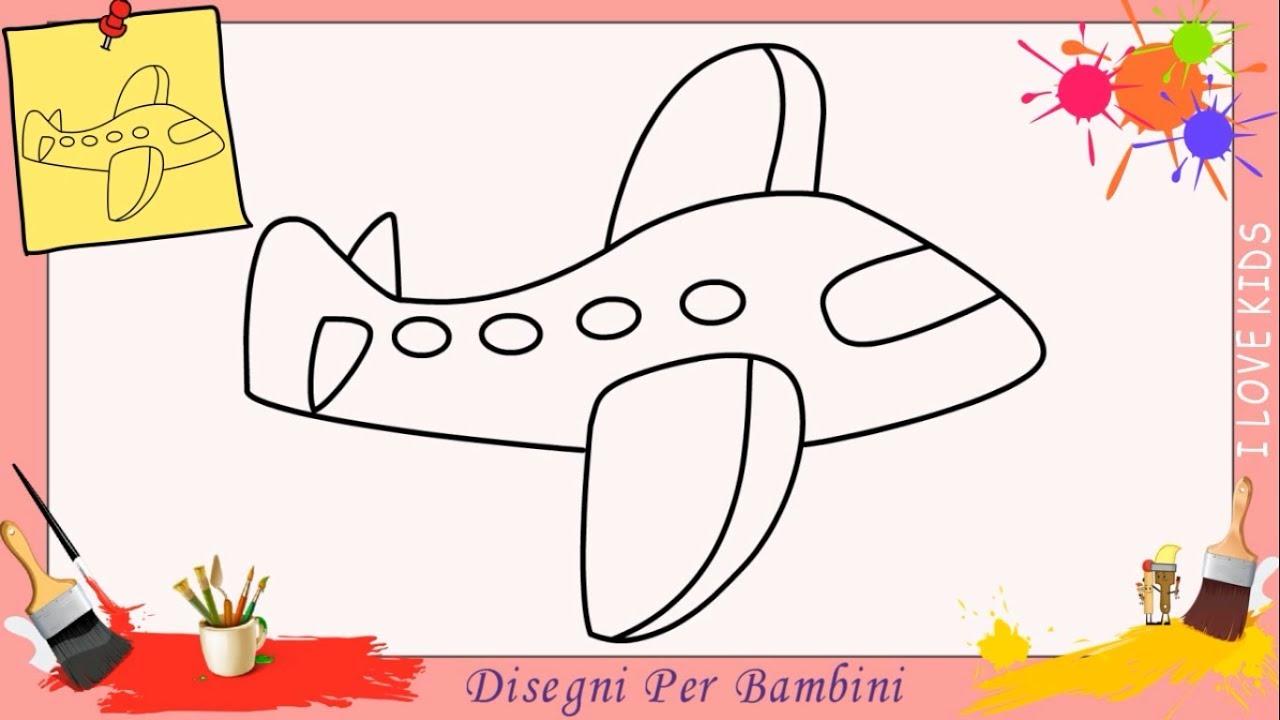 Come Disegnare Un Aereo Facile Passo Per Passo Per Bambini Disegno