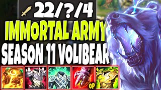 IMMORTAL ONE-MAN ARMY *New OP* Volibear Season 11 Build 🔥 LoL Top Lane Voli Preseason s11 Gameplay