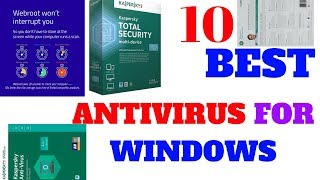 Top 10 best antivirus for windows
