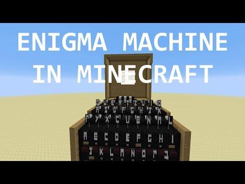 Working Engima Machine in Minecraft