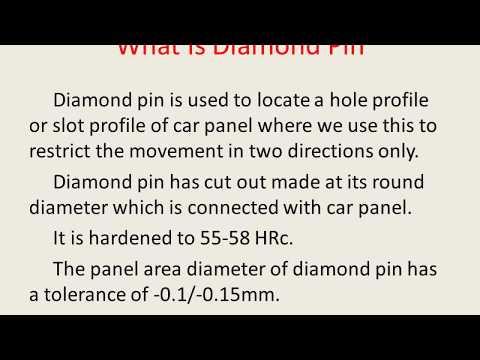 BIW Fixture Design - Diamond Pin (Part 1)