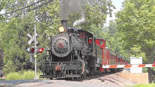 """Chasing the New Hope Railroad """"Buckingham Valley"""" Steam Excursion Trip 🚂"""