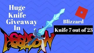 Knife #7 - Blizzard: Huge Roblox Assassin Giveaway 2018!