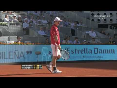 Roger Federer v. Kei Nishikori | Madrid 2013 R3 Highlights HD