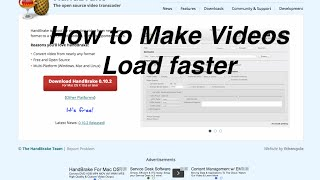 How to Make Videos Load Faster!