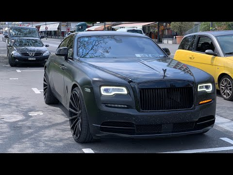 "Murdered out Rolls-Royce Wraith on 24"" rims ""Bet Boy"" from UK in Interlaken (Switzerland)"