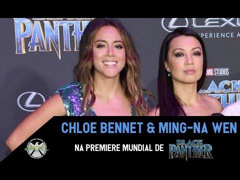 BlackPanther Premiere  MingNa Wen & Chloe Bennet falam sobre a 5ª temporada de Agents of SHIELD.