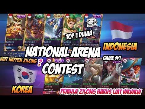 LIAT !! Apa Yang Dilakukan Zilong Ketika Bertemu Moskov ? INDONESIA  VS KOREA Game 1 14092017