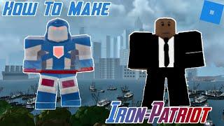 How to make Iron Patriot Mark 2 in Roblox Superhero Life 2
