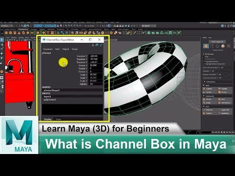 What is Channel Box in Maya 2018 | Learn Maya 3D Animation for Beginners Tutorials #53