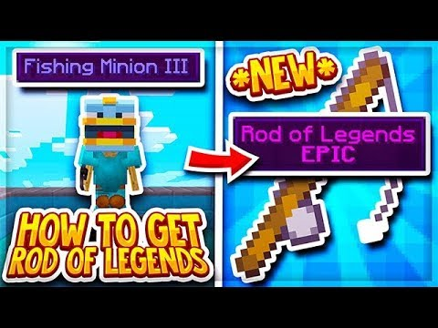 Hypixel Skyblock | NEW *ROD OF LEGENDS* + *FISHING MINIONS