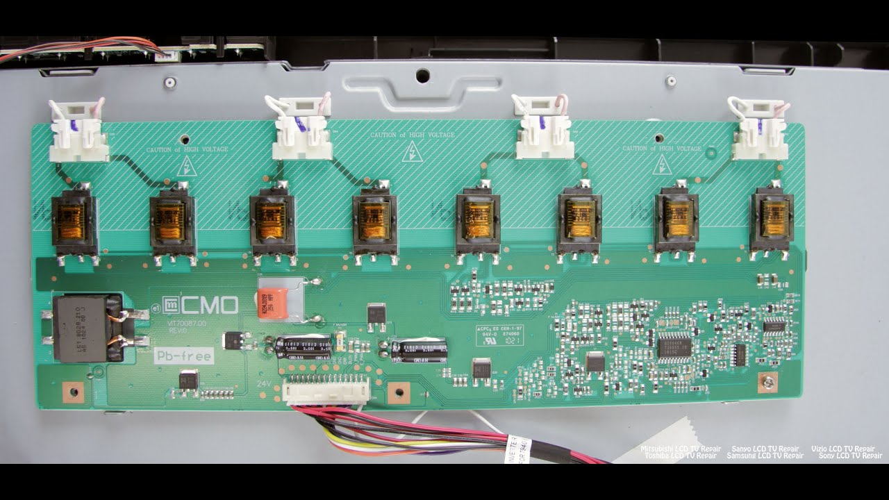LCD TV Repair Tutorial  Backlight Inverter Common Symptoms & Solutions  How to Fix LCD TVs