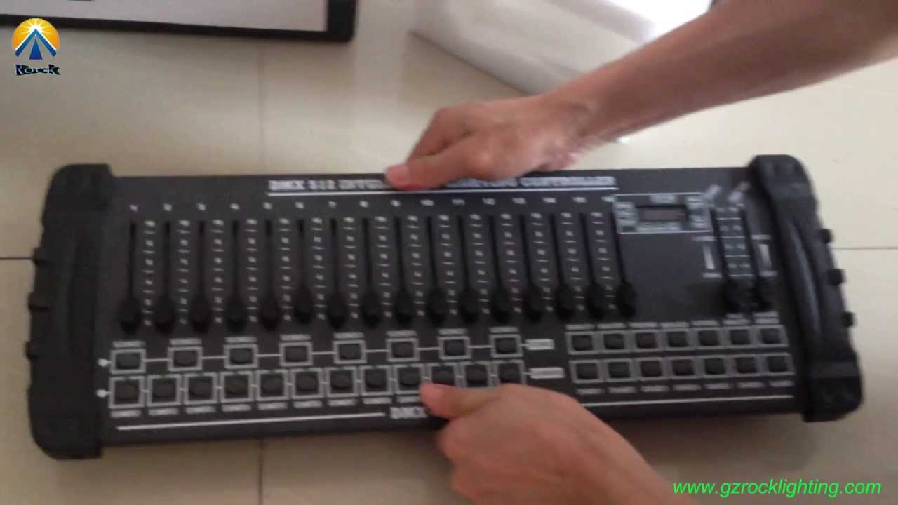 512 DMX console with simple 16 channel & 192 DMX controller
