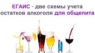 ЕГАИС - две схемы учета остатков алкоголя в общепите