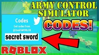 ARMY CONTROL SIMULATOR *WORKING* CODES || *SECRET SWORDS AND GOLD* - Roblox