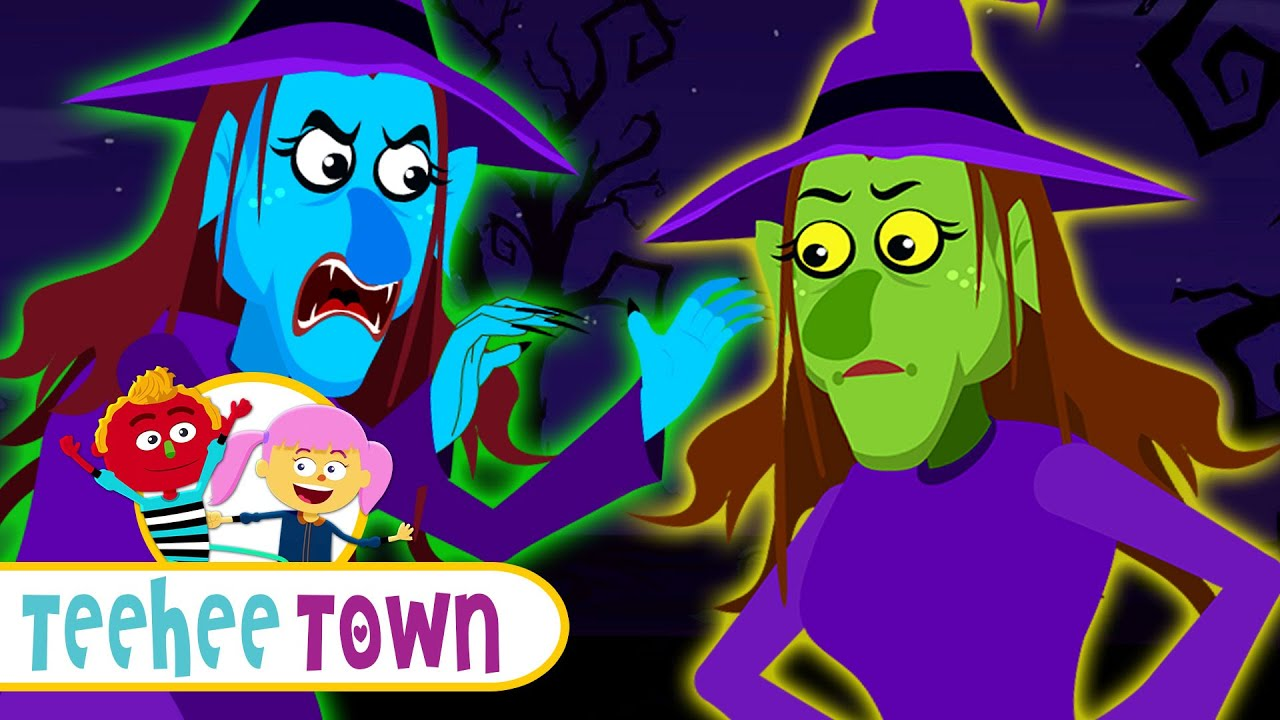 Three Little Witches   Halloween Funny Scary Songs For Kids By Teehee Town