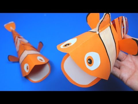 Moving Paper Fish Nemo | Paper Crafts For Kids