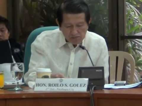 Roilo Golez, Committee Justice, OGCC & Bureau of Corrections 4 Sept 2012- 2