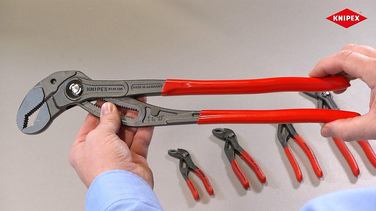 87 01 560 KNIPEX Wasserpumpenzange Cobra® XL//XXL grau atramentiert 560 mm Nr