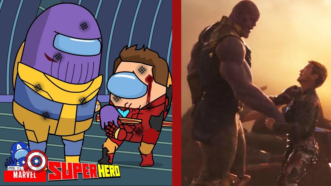 Avenger Infinity War Among Us - Scene Hulk Vs Thanos And Scene Iron Man Vs Thanos  - Among Us Marvel