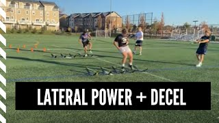 Lacrosse Speed and Agility: Lateral Power with Deceleration