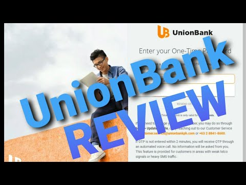 UnionBank REVIEW For ONLINE BANKING DASHBOARD Thru Web Browser