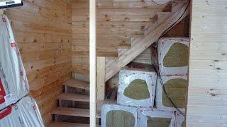 Лестница. Установка перегородок в доме с мансардой.(, 2016-08-07T10:36:08.000Z)