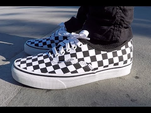 Checkered Vans Authentic Review + On Feet 886a9f98149