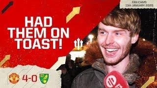 MATA HAD A BLINDER! Man United 4-0 Norwich City Fan Cam
