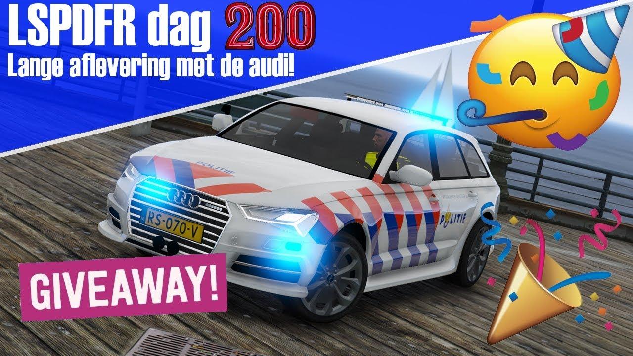 GTA 5 lspdfr dag 200 ! - Lange video met de nieuwste politie Audi A6!