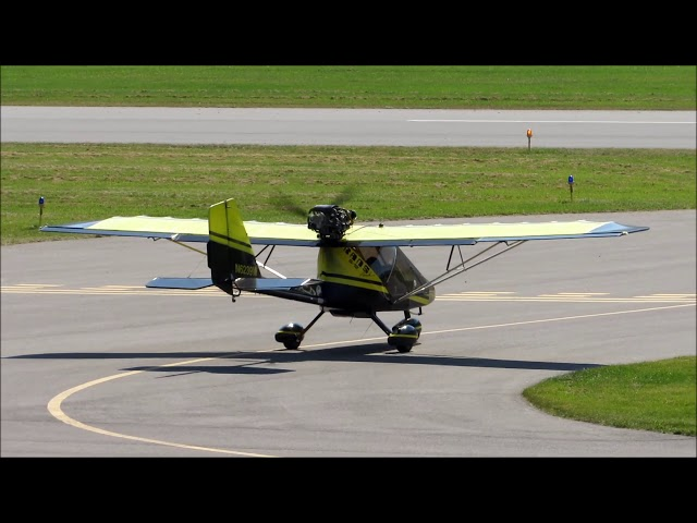 Rans S-12 Airaile taxi and take off-William T. Piper Memorial Airport