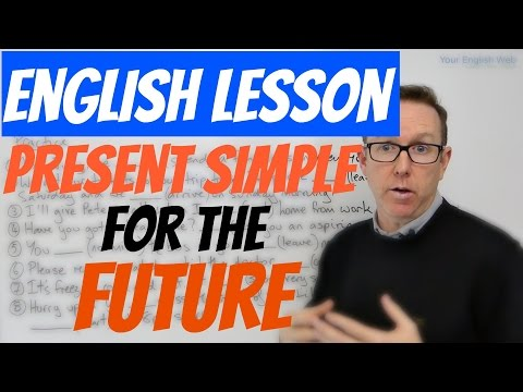 English lesson - Present simple as a future tense