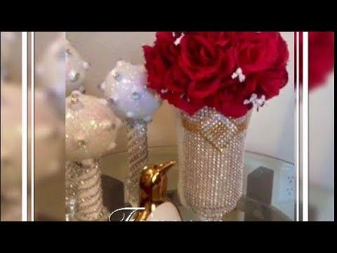 Dollar Tree DIY Glam Home Decor Elegant Centerpieces/Valentine's Day DIY Glam Wedding Decor 2018