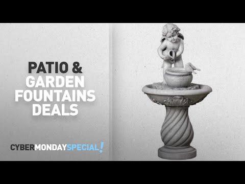 Walmart Top Cyber Monday Patio & Garden Outdoor Fountains Deals: Mainstays Cherub Fountain