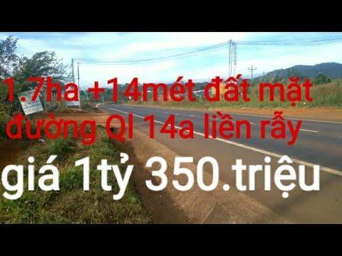 (đã bán) bán đất nông nghiệp đăk nông. 1.7ha +14.mét đất mặt đường Ql 14a. liền rẫy.