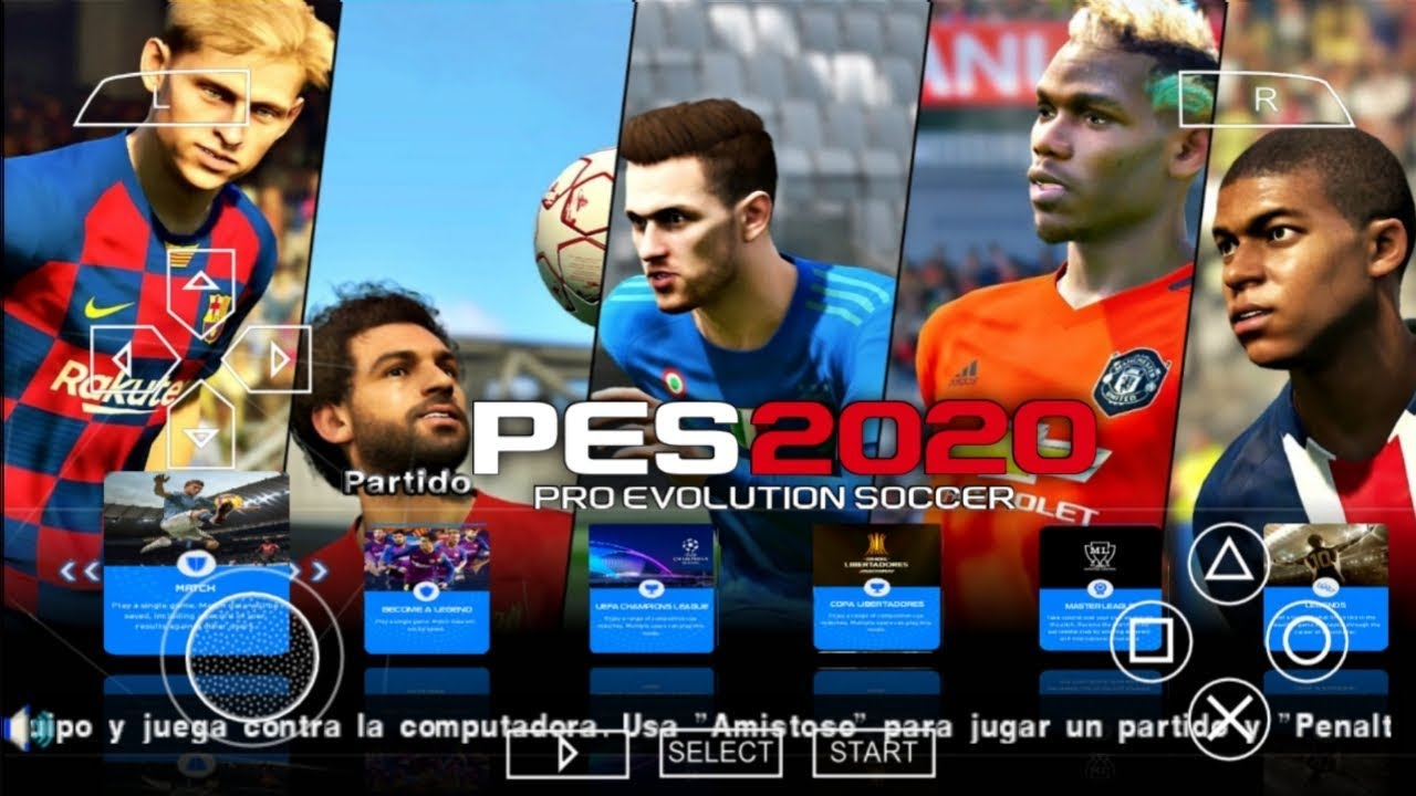 2020 Best Android Games PES 2020 PPSSPP Android Offline 600MB Best Graphics New Faces Kits