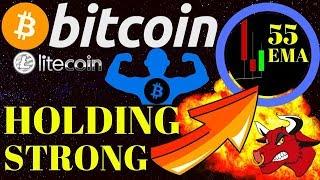 💪 BITCOIN 55 EMA HOLDING STRONG! 💪bitcoin litecoin price prediction, analysis, news, trading