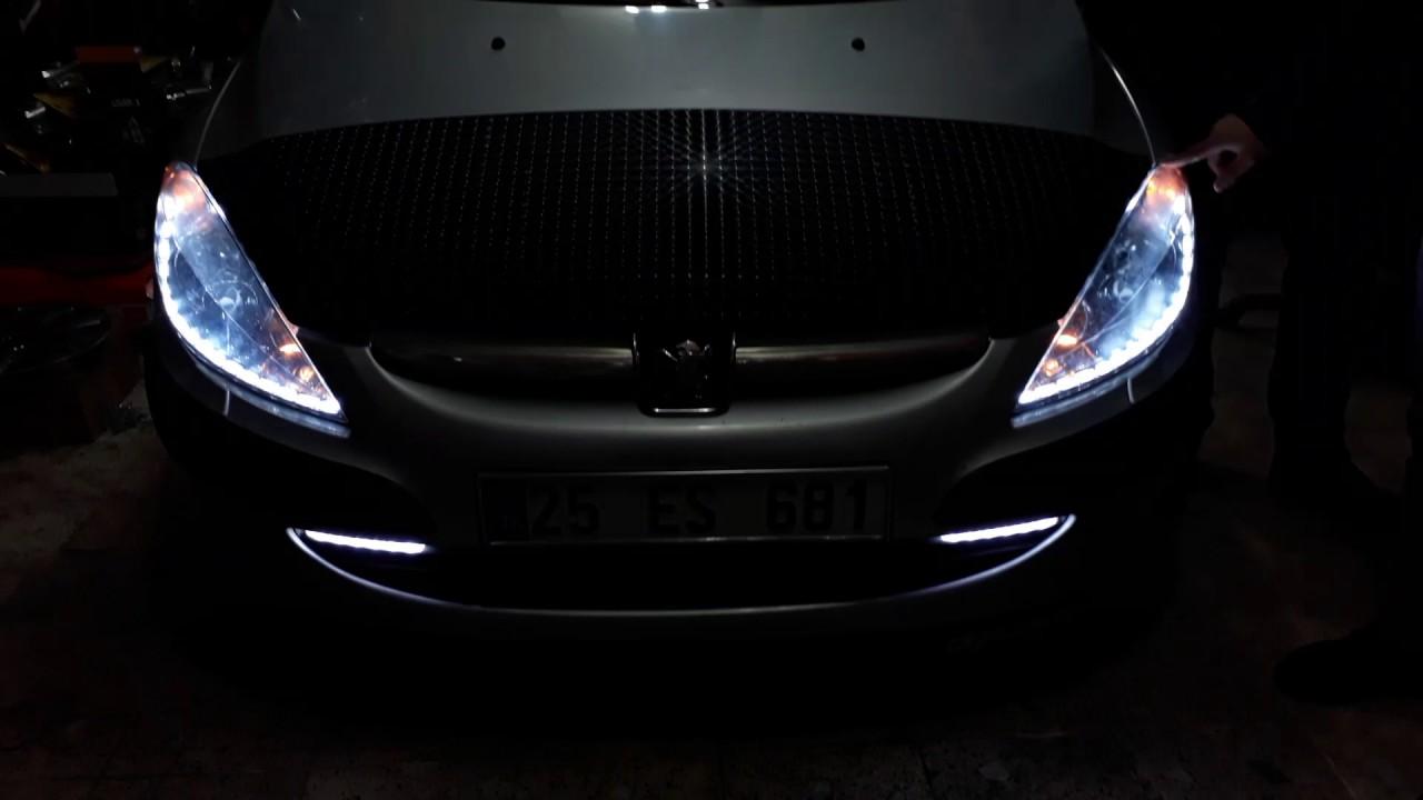Erzurum Garaj Peugeot 307 Far I 231 I Kayar Led Montaji Youtube