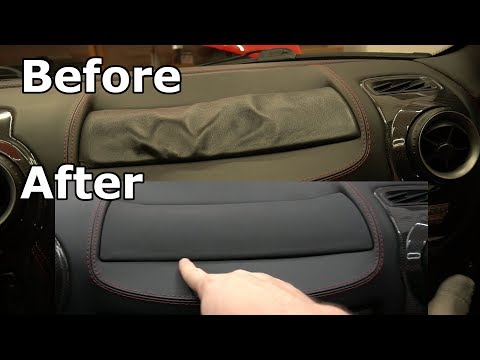 Just Like New Interior fixes my Ferrari F430 wrinkled leather airbag cover