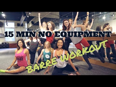 15 minute no equipment BARRE WORKOUT with Rita from Pure Barre | CITY SHAPE UP