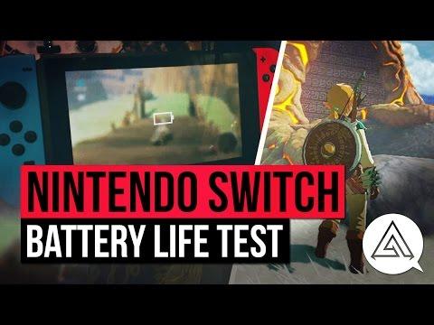 Nintendo Switch Battery Life Test w/ Zelda Breath of the Wild