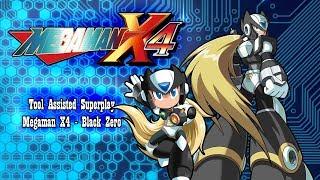【TAS】MEGAMAN X4 BLACK ZERO (NO DAMAGE - HEARTS - SUBTANKS - ALL CUTSCENES)