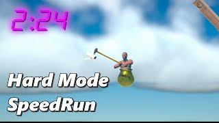 Getting Over It Hard Mode SpeedRun In 2:24 - MODDED Getting Over It With Bennett Foddy