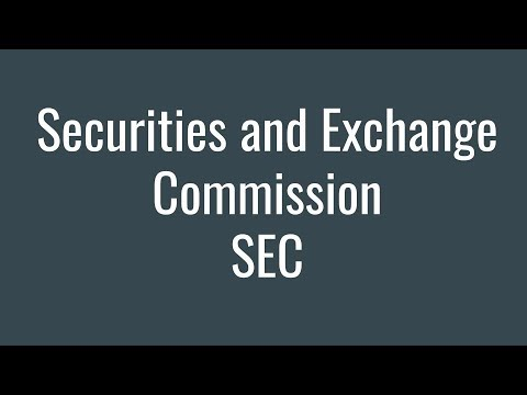Regulation of the Stock Market and the Securities and Exchange Commission SEC