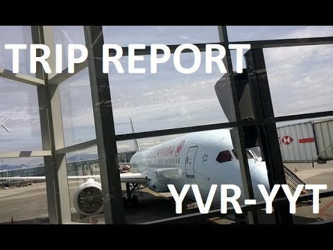 TRIP REPORT - Air Canada (787-9, A319), Vancouver to St. Joh