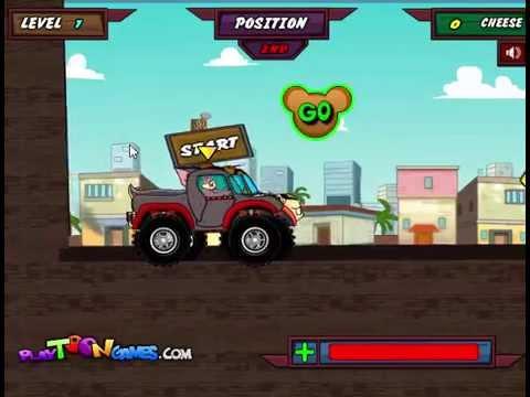 tom ve jerry araba yarışı  galaksioyun.com