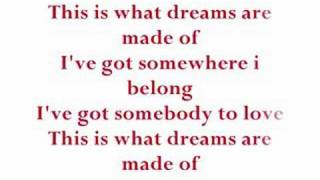 Hilary Duff - What Dreams Are Made Of With Lyrics